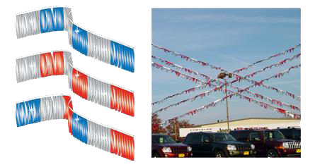 Kansas Auto Dealers Website Image - Flags and Streamers